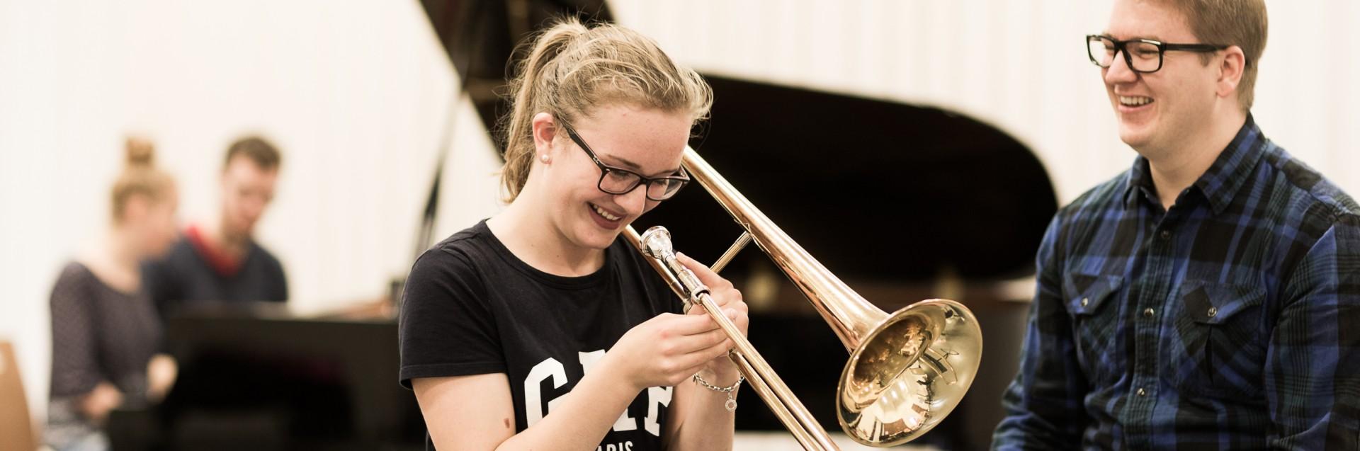Jazzskolen drives av studenter som tar PPU i skapende og utøvende kunstfag. Foto: Morten Berentsen