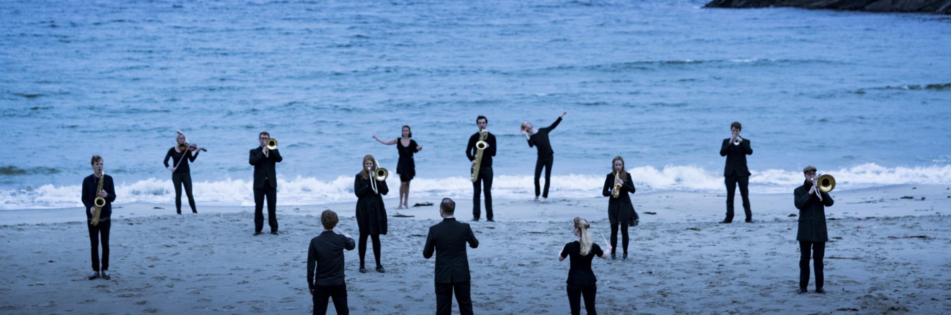 Students at Vigdel beach, Studenter på Vigdelstranden