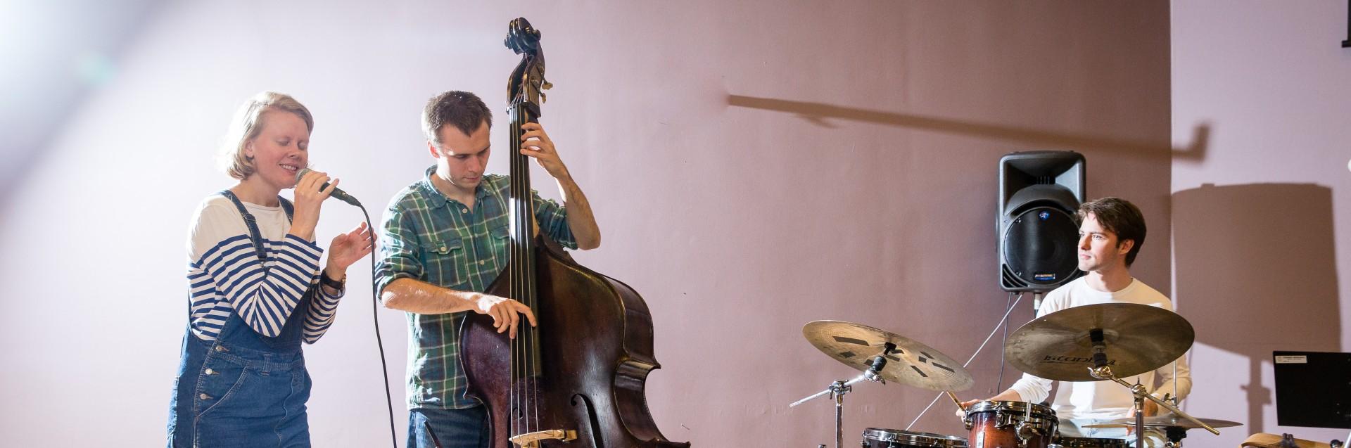 Jazzstudenter ved Fakultet for utøvende kunstfag. Foto: Marius Vervik