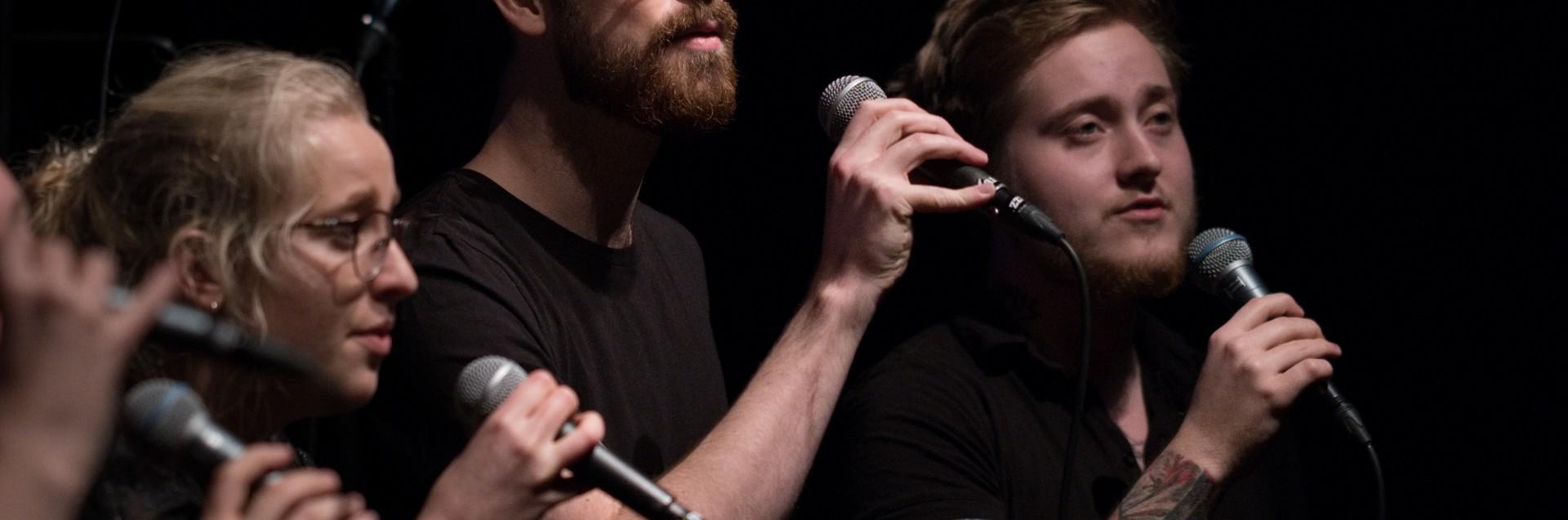 Bjergsted jazzensemble og Bjergsted vokalensemble sin julekonsert på Spor 5, desember 2018. Foto: Konelius Kiil Halvorsen