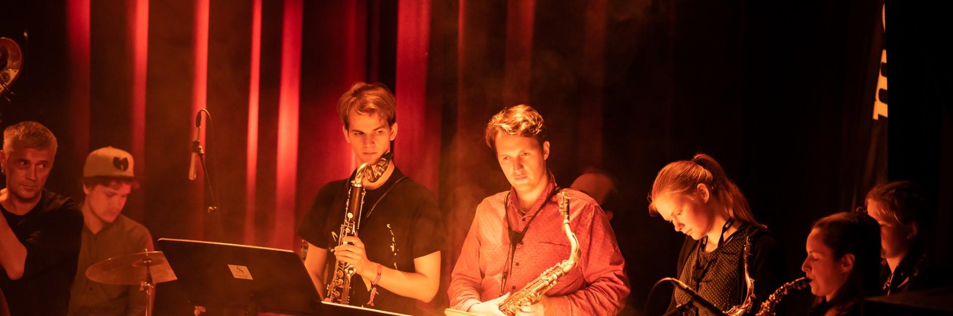 Bjergsted jazzensemble og Valkyrien Allstar, konsert på Spor 5. Foto: Trine Nessler Wichmann