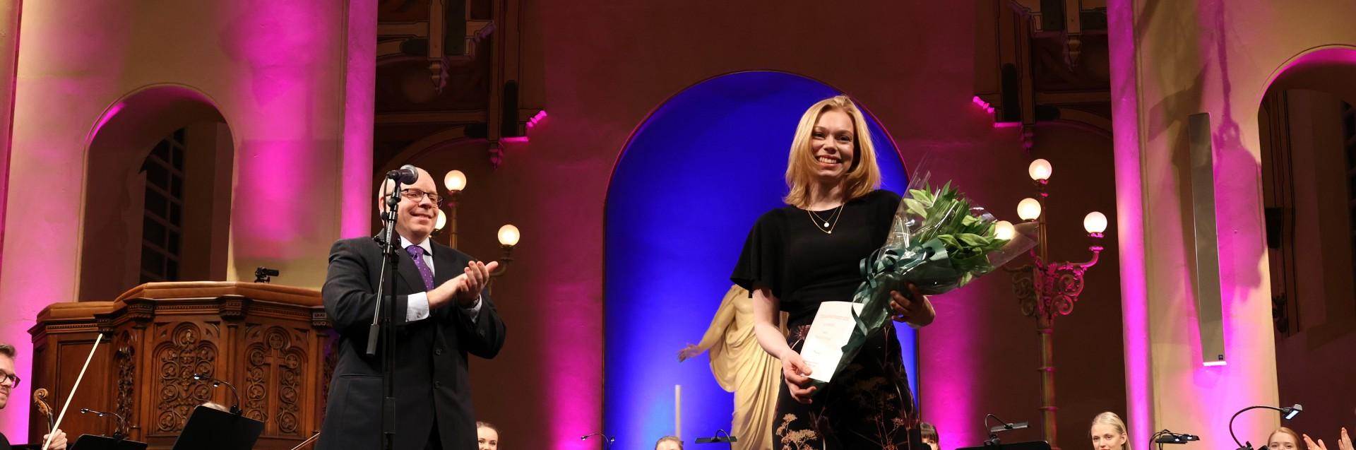 Thea Kjeseth Dolmen vant Steenslandstipendet 2020 på 50 000 kroner. Foto: UiS/Mari Hult