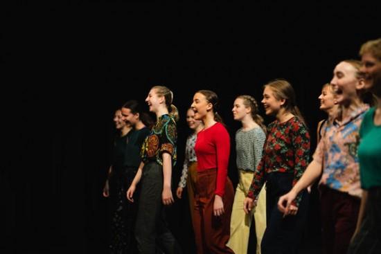 Foto fra danseforestilling ved Rimi/Imir. Fotograf: Marie von Krogh