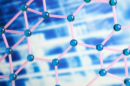 Illustrasjonsfoto av molekylstruktur