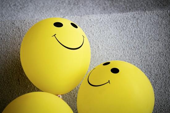ballonger med smilefjes på