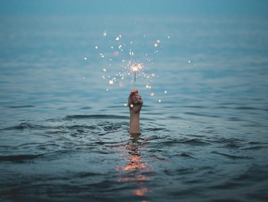 stjerneskudd i vann