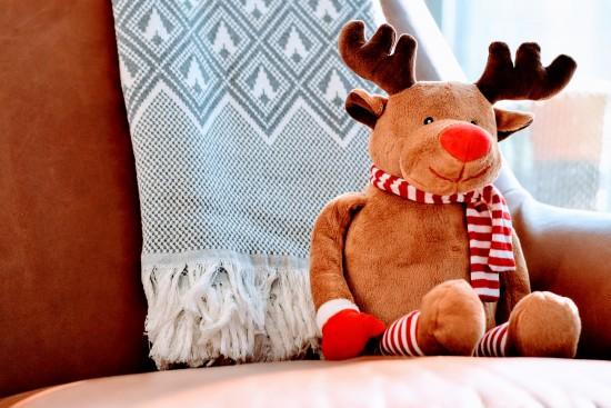 et reinsdyr som gleder seg til jul