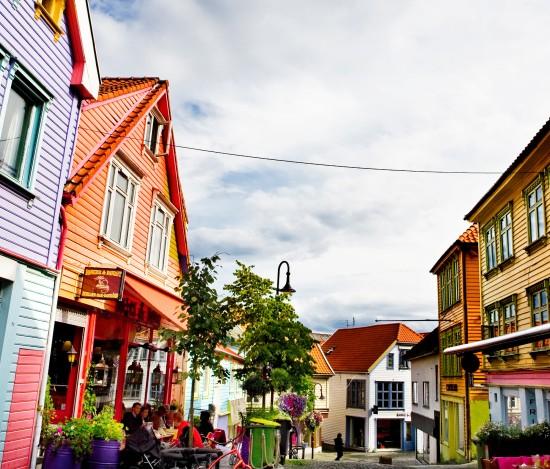Fargegata i Stavanger sentrum