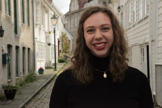 Student Marie- Elise Herredsvela ved Fakultet for utøvende kunstfag. Foto: privat
