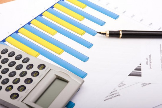 Kalkulator og utskrift av stolpediagram