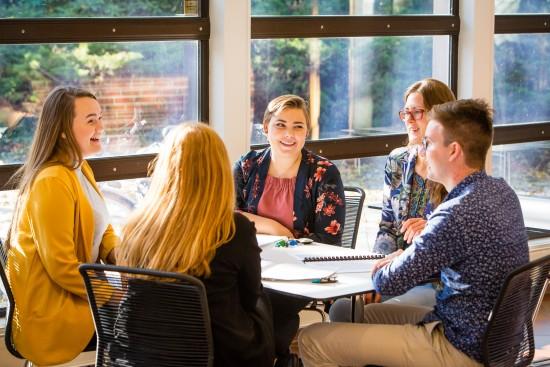 Studenter ved Fakultet for utøvende kunstfag. Foto: Marius Vervik, 2018