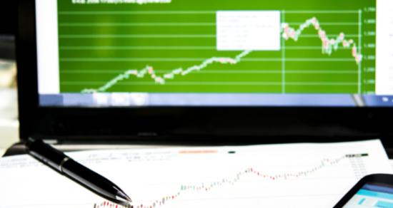 Graf på grønn skjerm