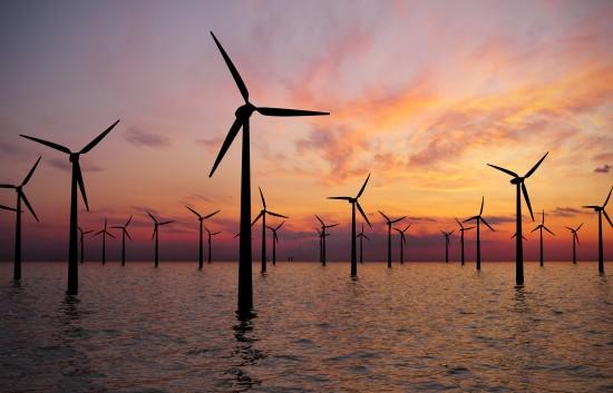 Offshore vindmøllepark. Foto: Shutterstock