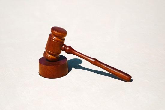 Court hammer by Tinget injury law firm