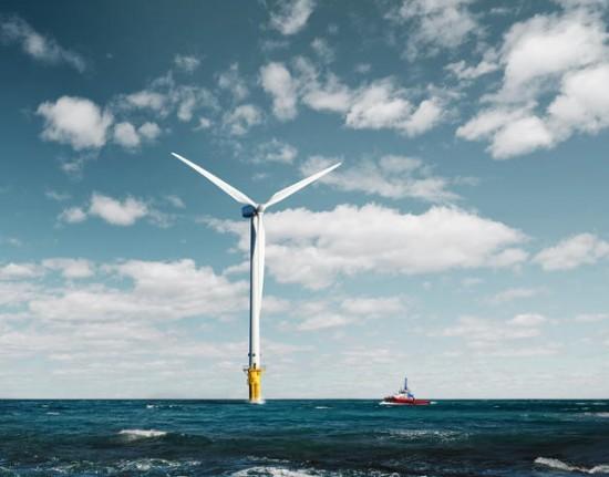 Offshore vindturbin