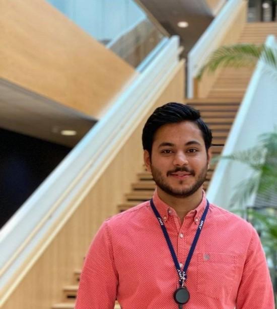 Bilde: PhD-student Syed Taha