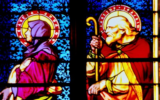Glassmaleri fra en kirke i Luxembourg.