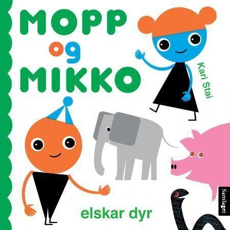 Mopp og Mikko elskar dyr omslag