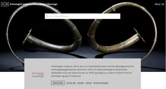 Skjermdump fra nettsiden DigitaltMuseum