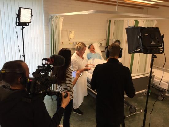 Opptak av ferdighetsfilm for sykepleieutdanning