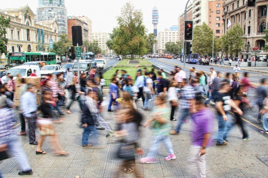 Folkemengde i en storby-gate