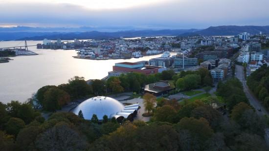 Dronebilde campus Bjergsted