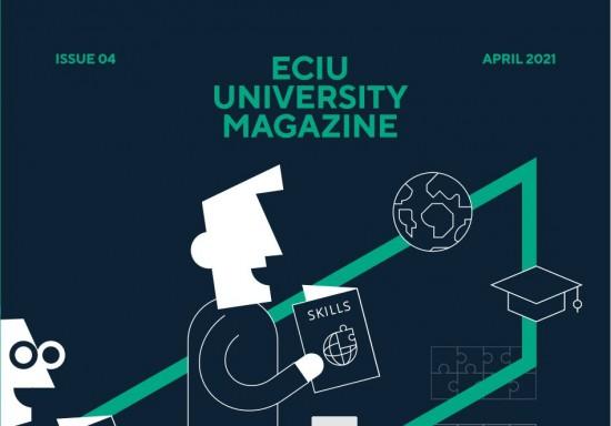 Cover of ECIU University magazine 2021