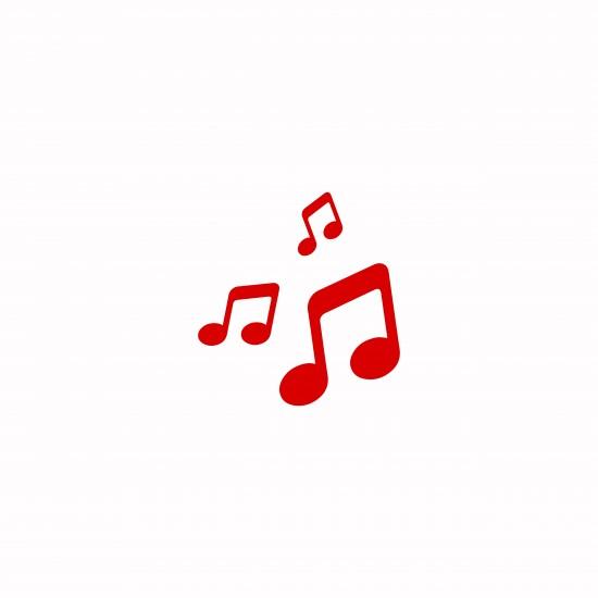 Noteillustrasjon musikk og dans