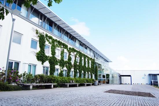 Fasaden til Ellen & Axel Lunds hus.
