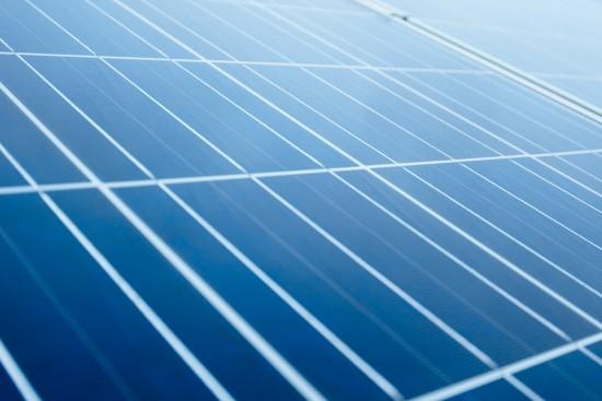 Foto av solcellepanel tett på