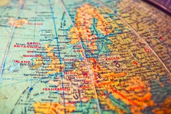 Utveksling_Europa kart