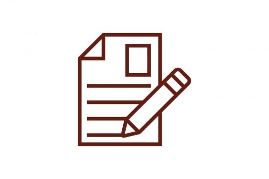 Papir og blyant ikon