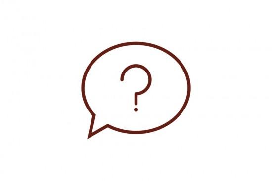 Snakkeboble med spørsmålstegn ikon
