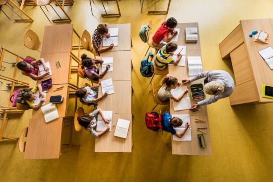 klasserom sett ovenfra