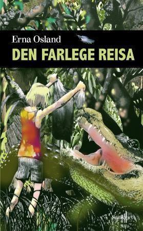 Bokomslag: Illustrasjon av ei jente som står foran en krokodille
