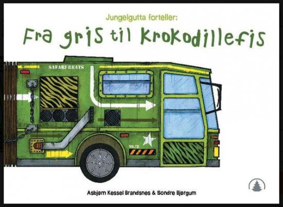 Bokforside: Illustrasjon av en grønn brannbil
