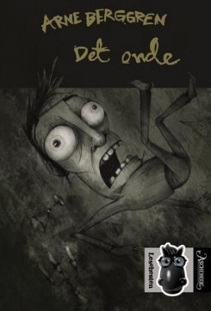 Bokforside: Illustrasjon av et skremt ansikt