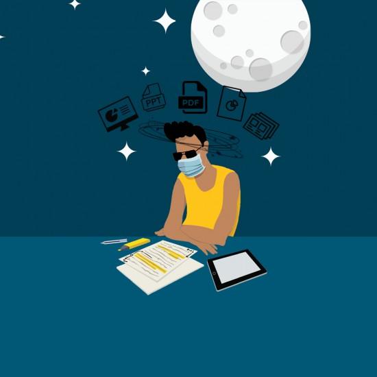 Illustrasjon Digital Skrivenatt ved Universitetsbiblioteket