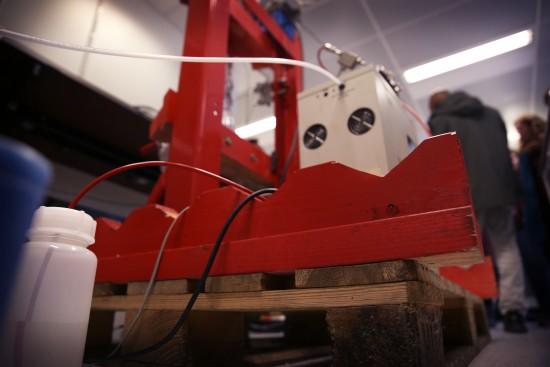 Storskalatest hos Halliburton. Foto: Kjersti Riiber