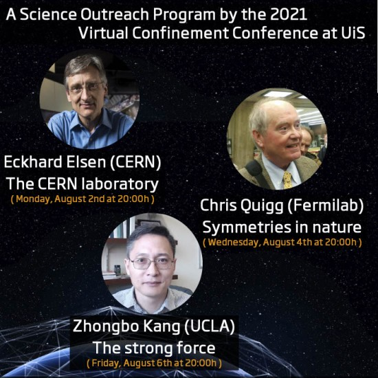 A Science Outreach Program by the 2021 Virtual Confinement Conference at UiS.
