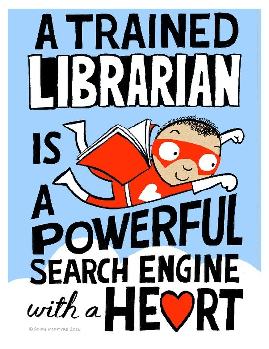 A trained librarian is a powerful search engine with a heart