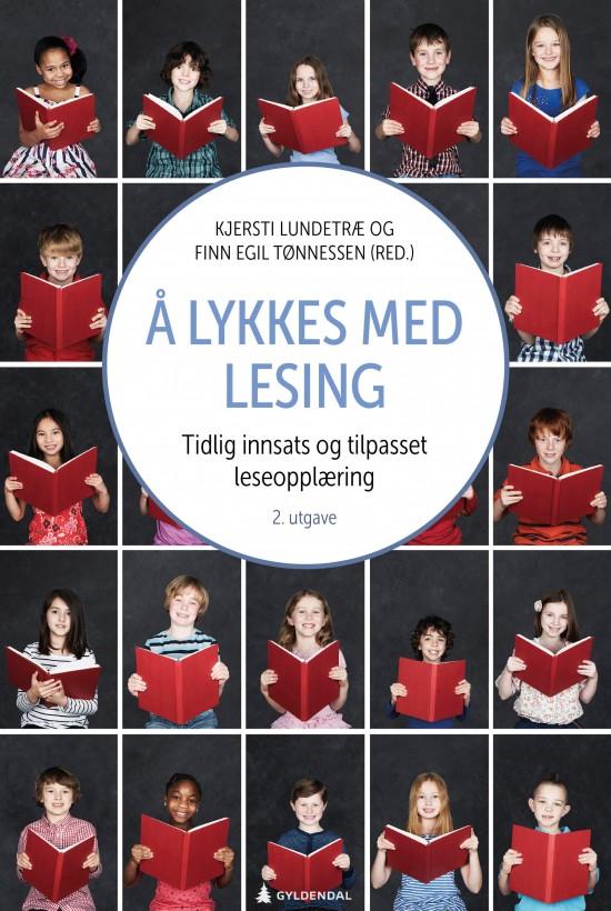 Forside: Collage av små bilder av folk som leser en bok.