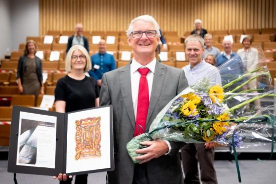 Emiel Janssen vant forskningsprisen. Foto: Svein Lunde, SUS