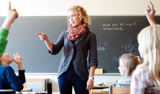 Lærer i klasserommet_illustrasjon